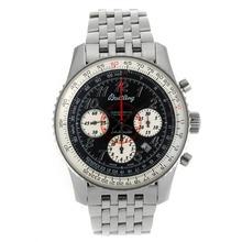 Replique Breitling Montbrillant chronographe suisse Valjoux 7750 Mouvement avec marqueurs Nombre Dial S / S-verre de saphir noir - Attractive Breitling Montbrillant montre pour vous 26264