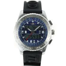 Replique Breitling Emergency Displayer numérique avec cadran bleu-bracelet en caoutchouc - Attractive montre Breitling Emergency pour vous 26256