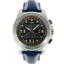 Replik Breitling Emergency Digital Displayer with Brown Dial-Blue Leather Strap – Attractive Breitling Emergency Watch for You 26255