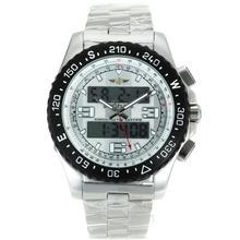 Replique Breitling Emergency Displayer numérique PVD lunette avec cadran blanc S / S - Montre Breitling Emergency attrayant pour vous 26238