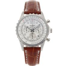 Replik Breitling Chronospace Working Chronograph White Dial with Leather Strap-Lady Size – Attractive Breitling Chronospace Watch for You 26209