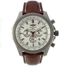 Replique Breitling for Bentley travail chronographe en titane de cas avec cadran blanc-bracelet en cuir - Attractive Breitling Bentley Regarder pour vous 26179
