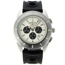 Replik Breitling Super Ocean Working Chronograph with White Dial-Rubber Strap – Attractive Breitling Super Ocean Watch for You 26169