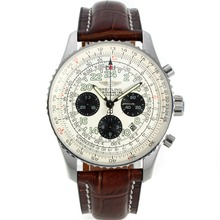 Replik Breitling Navitimer Chronograph Swiss Valjoux 7750 Movement with White Dial-Sapphire Glass – Attractive Breitling Navitimer Watch for You 26161