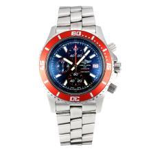 Replique Breitling Super Ocean-Chronographe Lunette rouge avec cadran noir-rouge Aiguille - Attractive Breitling Super Ocean Watch pour vous 26114