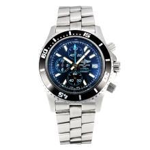 Replique Breitling Super Ocean travail Chronographe Lunette noire avec cadran noir-bleu à aiguilles - Attractive Breitling Super Ocean Watch pour vous 26112