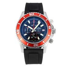 Replique Breitling Super Ocean-Chronographe Lunette rouge avec cadran noir-rouge Aiguille - Attractive Breitling Super Ocean Watch pour vous 26109