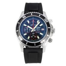 Replique Breitling Super Ocean travail Chronographe Lunette noire avec cadran noir-rouge Aiguille - Attractive Breitling Super Ocean Watch pour vous 26108