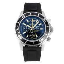 Replique Breitling Super Ocean-Chronographe Lunette noire avec cadran noir-jaune Aiguilles - Attractive Breitling Super Ocean montre pour vous 26107