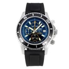 Replique Breitling Super Ocean travail Chronographe Lunette noire avec cadran noir-orange Aiguille - Attractive Breitling Super Ocean Watch pour vous 26106