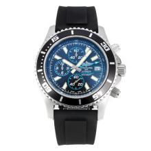 Replique Breitling Super Ocean travail Chronographe Lunette noire avec cadran noir-bleu à aiguilles - Attractive Breitling Super Ocean Watch pour vous 26105