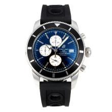 Replique Breitling Super Ocean travail Chronographe Lunette noire avec cadran noir-blanc Aiguilles - Attractive Breitling Super Ocean Watch pour vous 26104