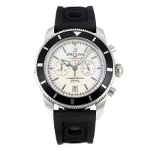 Replik Breitling Super Ocean Working Chronograph Black Bezel with White Dial-Silver Needle – Attractive Breitling Super Ocean Watch for You 26102