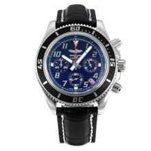 Replique Breitling Super Ocean travail Chronographe Lunette noire avec cadran noir-rouge Aiguille - Attractive Breitling Super Ocean Watch pour vous 26090