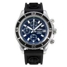 Replique Breitling Super Ocean travail Chronographe Lunette noire avec cadran noir-blanc Aiguilles - Attractive Breitling Super Ocean Watch pour vous 26087