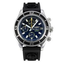 Replique Breitling Super Ocean-Chronographe Lunette noire avec cadran noir-jaune Aiguilles - Attractive Breitling Super Ocean montre pour vous 26085