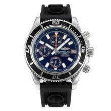 Replique Breitling Super Ocean travail Chronographe Lunette noire avec cadran noir-orange Aiguille - Attractive Breitling Super Ocean Watch pour vous 26084