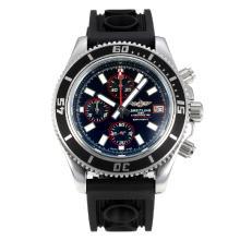 Replique Breitling Super Ocean travail Chronographe Lunette noire avec cadran noir-rouge Aiguille - Attractive Breitling Super Ocean Watch pour vous 26083