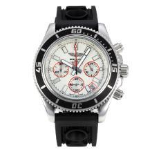 Replique Breitling Super Ocean travail Chronographe Lunette noire avec cadran blanc-rouge Aiguille - Attractive Breitling Super Ocean Watch pour vous 26082