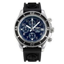 Replique Breitling Super Ocean travail Chronographe Lunette noire avec cadran noir-blanc Aiguilles - Attractive Breitling Super Ocean Watch pour vous 26081
