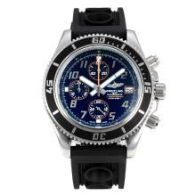 Replique Breitling Super Ocean travail Chronographe Lunette noire avec cadran noir-orange Aiguille - Attractive Breitling Super Ocean Watch pour vous 26078