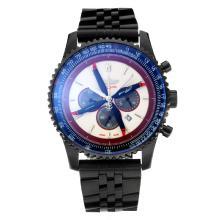 Replique Breitling Navitimer Chronograph de travail complet PVD Cadran Blanc - Attractive Breitling Navitimer montre pour vous 26063