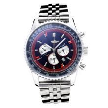 Replique Breitling Navitimer Chronographe de travail avec cadran noir S / S - Attractive Breitling Navitimer montre pour vous 26062