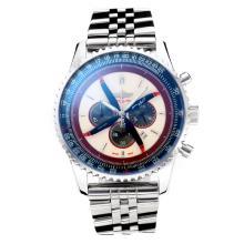 Replique Breitling Navitimer Chronographe de travail avec cadran blanc S / S - Attractive Breitling Navitimer montre pour vous 26061