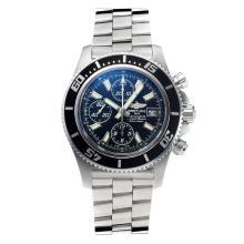 Replique Breitling Super Ocean suisse Valjoux 7750 Mouvement lunette noire avec cadran noir-blanc-verre de saphir aiguille - Attractive Breitling Super Ocean Watch pour vous 26038