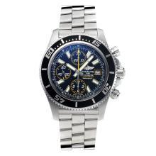 Replique Breitling Super Ocean suisse Valjoux 7750 Mouvement lunette noire avec cadran noir-jaune-verre de saphir aiguille - Attractive Breitling Super Ocean Watch pour vous 26035