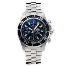 Replique Breitling Super Ocean suisse Valjoux 7750 Mouvement lunette noire avec cadran noir-bleu-verre de saphir aiguille - Attractive Breitling Super Ocean Watch pour vous 26034
