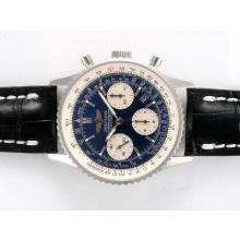 Replique Breitling Navitimer Chronographe Suisse Valjoux 7750 Mouvement avec cadran bleu - Attractive Breitling Navitimer montre pour vous 26971