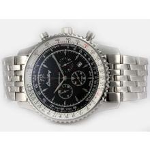 Replique Breitling Montbrillant de travail Chronographe avec cadran noir-Nouvelle Version 46MM - Montre Breitling Montbrillant attrayant pour vous 26961
