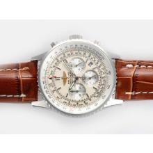 Replique Breitling Navitimer Chronographe de travail avec cadran blanc - Attractive Breitling Navitimer montre pour vous 26958