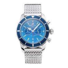 Replique Breitling Super Ocean travail Chronographe avec cadran bleu S / S - Attractive Breitling Super Ocean montre pour vous 26029
