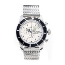 Replique Breitling Super Ocean travail chronographe avec cadran blanc S / S - Attractive Breitling Super Ocean Watch pour vous 26028