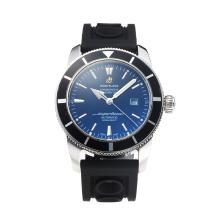 Replique Breitling Super Ocean automatique Lunette noire avec cadran noir-Bracelet Caoutchouc - Attractive Breitling Super Ocean Watch pour vous 26023