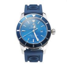Replique Breitling Super Ocean automatique Lunette bleu avec cadran bleu-bracelet en caoutchouc - Attractive Breitling Super Ocean Watch pour vous 26020