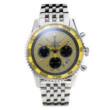 Replique Breitling Colt travail Chronographe avec cadran jaune S / S - Attractive Breitling Colt montre pour vous 26011