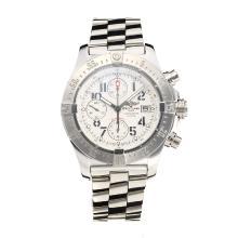 Replique Breitling Chrono Avenger Chronograph Valjoux 7750 Mouvement suisse avec cadran blanc S / S-verre de saphir - Attractive Breitling Chrono Avenger montre pour vous 26005