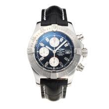 Replique Breitling Chrono Avenger Chronograph Valjoux 7750 Mouvement suisse avec cadran noir-bracelet en cuir-verre de saphir - Attractive Montre Breitling Chrono Avenger pour vous 26004