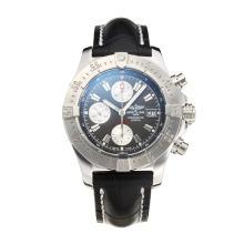 Replique Breitling Chrono Avenger Chronograph Valjoux 7750 Mouvement suisse avec Gray Dial-bracelet en cuir-verre de saphir - Attractive Montre Breitling Chrono Avenger pour vous 26003