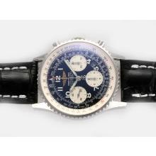 Replique Breitling Navitimer Chronographe Suisse Valjoux 7750 Mouvement avec cadran noir-Nombre de marquage - Montre Breitling Navitimer attrayant pour vous 26956