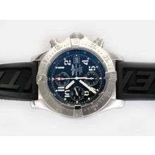 Replique Breitling Avenger Skyland chronographe suisse Valjoux 7750 Mouvement avec cadran noir-AR Coating - Attractive Montre Breitling Avenger Skyland pour vous 26944