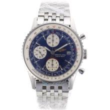 Replique Breitling Navitimer Chronographe Suisse Valjoux 7750 Mouvement avec cadran bleu - Attractive Breitling Navitimer montre pour vous 26936