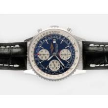 Replique Breitling Navitimer Chronographe Suisse Valjoux 7750 Mouvement avec cadran bleu-Boucle Déployante - Attractive Breitling Navitimer montre pour vous 26932