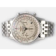 Replique Breitling Navitimer Chronographe Suisse Valjoux 7750 Mouvement Cadran blanc avec marquage Numéro - Attractive Breitling Navitimer montre pour vous 26929