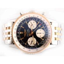Replique Breitling Navitimer Chronograph Valjoux 7750 Mouvement suisse-Two Tone - Attractive Breitling Navitimer montre pour vous 26907