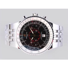 Replique Breitling Montbrillant Legende Chronographe Suisse Valjoux 7750 Mouvement avec cadran brun - Attractive Breitling Montbrillant Montre pour vous 26887