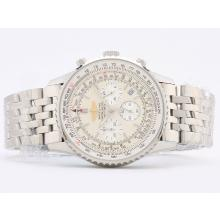 Replique Breitling Navitimer Chronographe de travail avec cadran blanc-Stick Marquage - Attractive Breitling Navitimer montre pour vous 26867